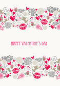 Retro Valentines day postcard collection — Stock vektor