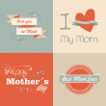 Retro Happy Mothers day — Stock Vector
