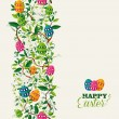 Colorful Easter greeting card — Stock Vector