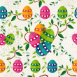 Colorful Easter pattern eggs — Stock Vector