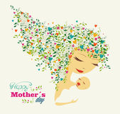 Happy Mothers day greeting card — Stock Vector