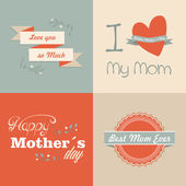 Retro Happy Mothers day — Stock Vector