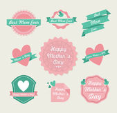 Happy Mothers day vintage label set — Stock Vector