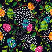 Colorful Easter pattern eggs — ストックベクタ
