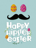 Hipster easter greeting card — Stock Vector