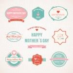 Retro Mothers Day label set design — Stock Vector