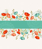 Spring flower banner — Stock Vector