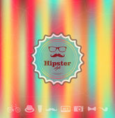 Colorful Hipster blurred background — Stock Vector