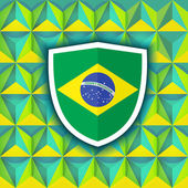 Abstract geometric Brazil flag — Stock Vector