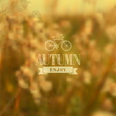 Autumn vintage blurred background — Stock Vector