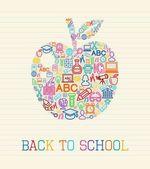 Back to School apple concept illustration — Stock Vector