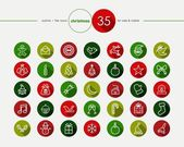 Christmas flat icons set — Stock Vector