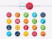Education flat icons set — Stock Vector