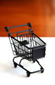 Shopping trolley — Stock Photo