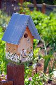 Decorative birdhouse — Stock Photo
