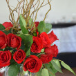 Stock Photo: Red wedding roses