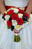 Bridal rose bouquet — Stock Photo