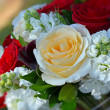 Stock Photo: Bridal rose bouquet