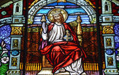 Lord Jesus stained glass — Stock Photo