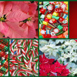 Colorful christmas collage — Stock Photo