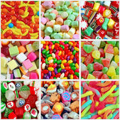 Colorful candy collage — Stock Photo
