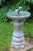Garden birdbath — Stock Photo