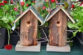 Two garden birdhouses — Stock Photo