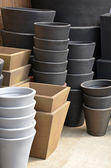 Stacks of garden planters — Foto Stock