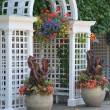 Stock Photo: White garden archway