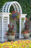 White garden archway — Stock Photo