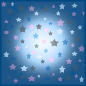 Blue and pink stars background illustration — Stock Photo