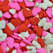 Colorful candy valentine hearts — Stock Photo