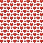 Red valentine hearts pattern — Stock Photo