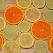 图库照片: Orange, lemon and lime slices