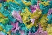 Fuzzy strings of yarn — Stok fotoğraf