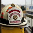 Stock Photo: Fire fighters helmet