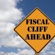 Fiscal cliff sign — Stock Photo