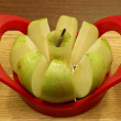 Cored apple - Stock Photo