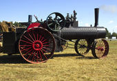 Steam powered tractor — Stock Photo