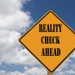 Reality check sign — Stock Photo