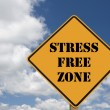 Stress free sign — Stock Photo