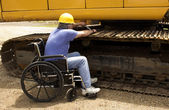Disabled mechanic — Stock Photo
