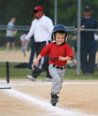 Baseball Player Running — Stock Photo
