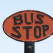 Old Bus Stop Sign — Stock Photo