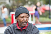 African american homeless man — Stock Photo