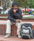 Homeless african american man — Stock Photo