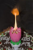 Flame of Magic Candle — Foto Stock