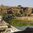 Lake and Hill at Badami — Stock Photo