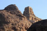 Rock and Temple at Badami — Stock Photo