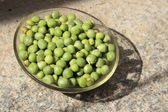 Dish of Green Peas — Stock Photo